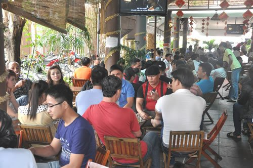 Quán cafe bình thường tạo được sức hút đối với khách hàng