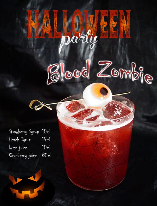 Blood Zombie thức uống màu sắc dành cho Halloween