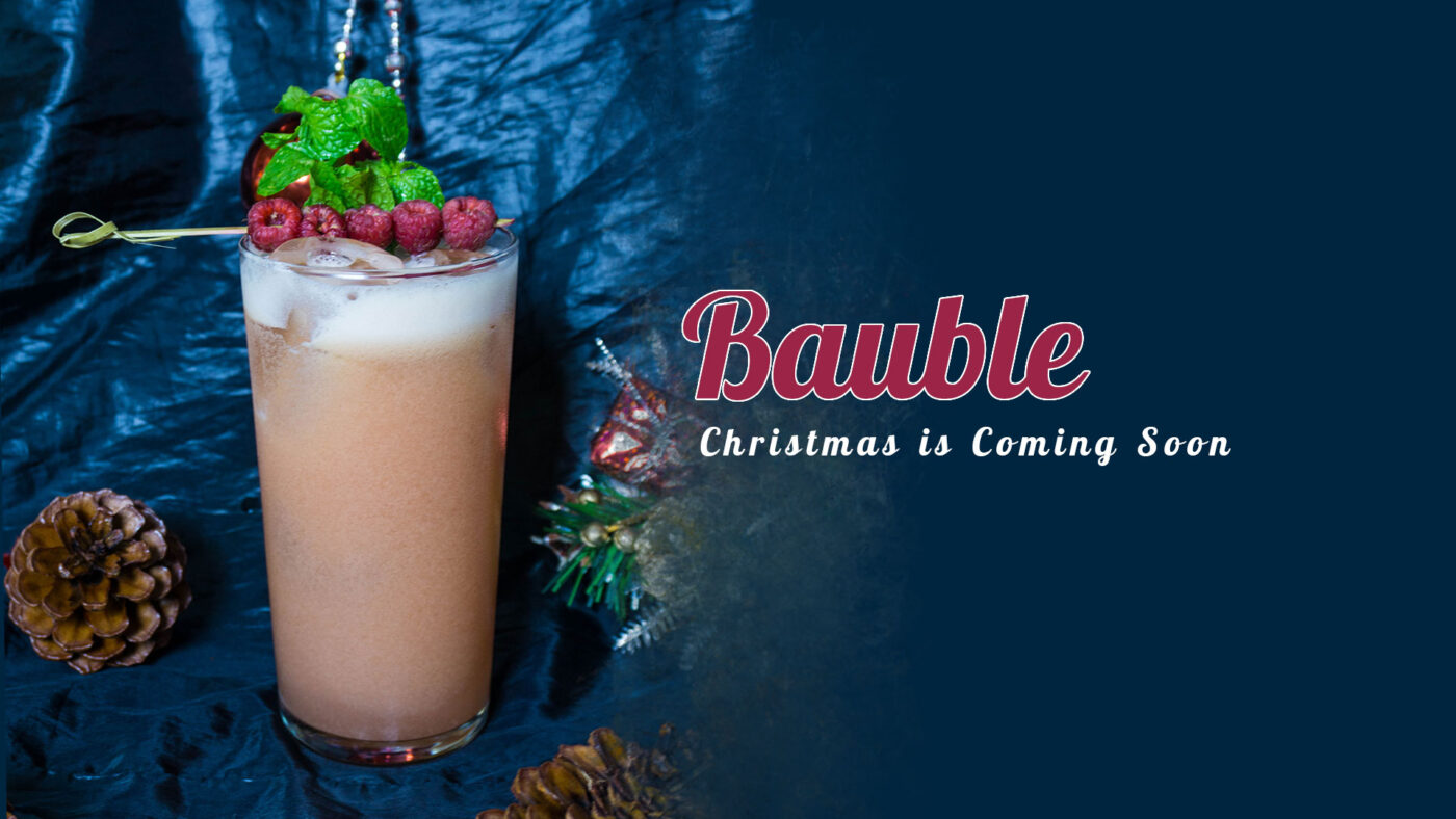 Bauble - thức uống lạ mắt tượng trưng cho những trái châu màu sắc của Noel