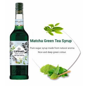 matcha green tea syrup giffard